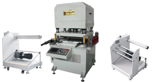 roll to roll hydraulic die cutting machine for Nickel Foil and Copper Foil Label ,rubber pad